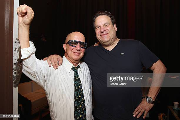 Musician Paul Shaffer and comedian Jeff Garlin pose backstage during the 9th Annual Comedy Celebration presented by the International Myeloma...