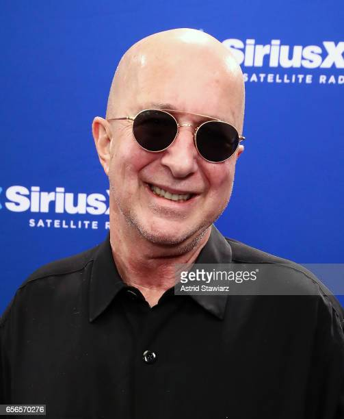 Musician Paul Shaffer discusses his new album during a SiriusXM 'Unmasked' event hosted by Ron Bennington at the SiriusXM Studios on March 20, 2017...