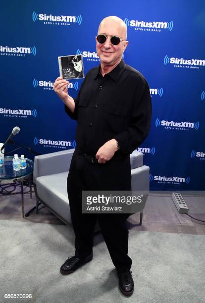 Musician Paul Shaffer discusses his new album during a SiriusXM 'Unmasked' event hosted by Ron Bennington at the SiriusXM Studios on March 20 2017 in...
