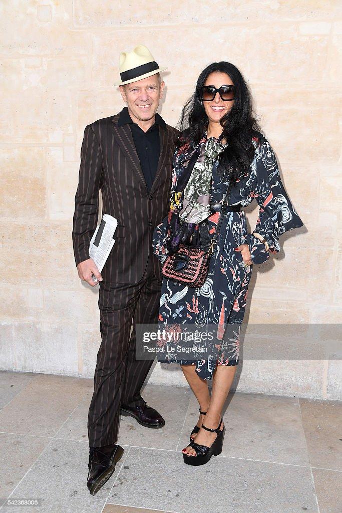 Musician Paul Simonon and a guest attend the Louis Vuitton Menswear Spring/Summer 2017 show as part of Paris Fashion Week on June 23, 2016 in Paris, France.