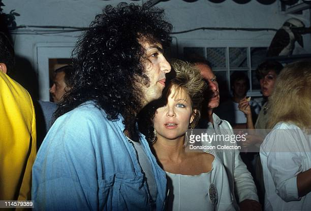 Musician Paul Stanley and Actress Lisa Hartman pose for a portrait in circa 1985 in Los Angeles California