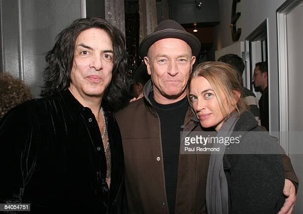 Musician Paul Stanley of Kiss actor Corbin Bernsen and his wife actress Amanda Pays attend the Gibson Guitar Dark Fire Launch Party at the Gibson...