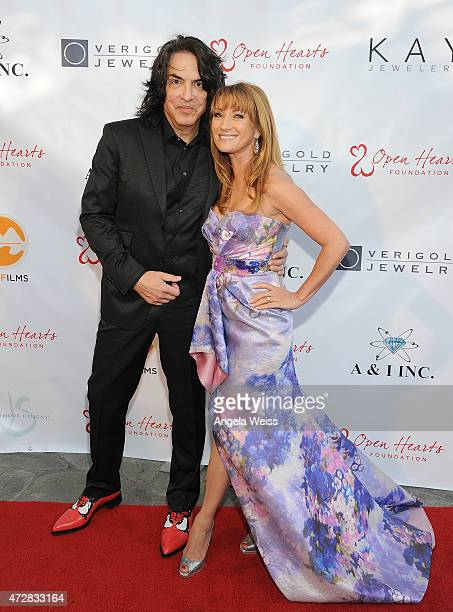 Musician Paul Stanley of KISS and Jane Seymour attend the 5th Annual Open Hearts Foundation Gala on May 9 2015 in Malibu California