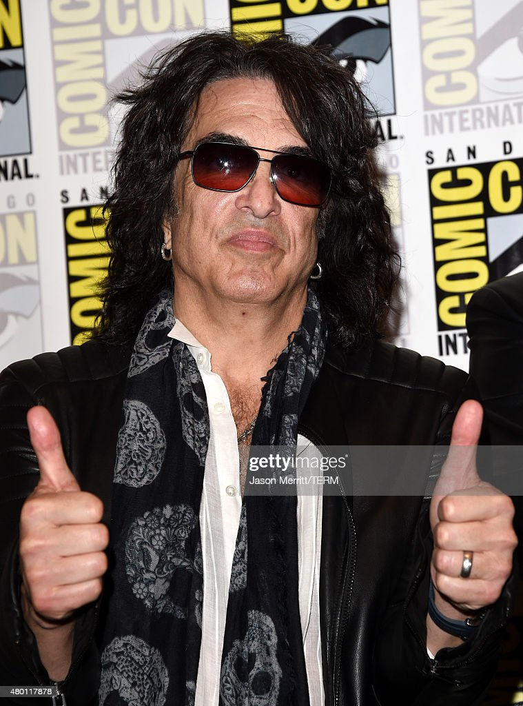 Musician Paul Stanley of Kiss attends the Scooby-Doo! and Kiss: Rock and Roll Mystery Press Room during Comic-Con International 2015 at the at Hilton Bayfront on July 9, 2015 in San Diego, California.