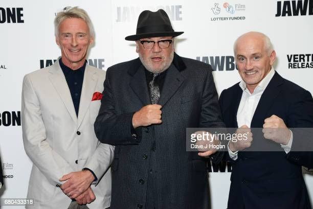 Musician Paul Weller actor Ray Winstone and Barry McGuigan attend the 'Jawbone' UK premiere at BFI Southbank on May 8 2017 in London United Kingdom