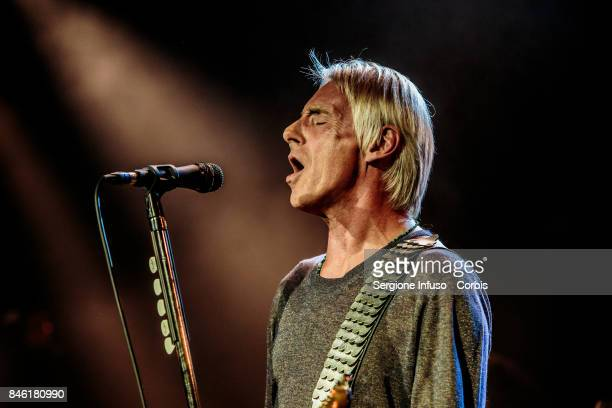 Musician Paul Weller performs on stage on September 12 2017 in Milan Italy