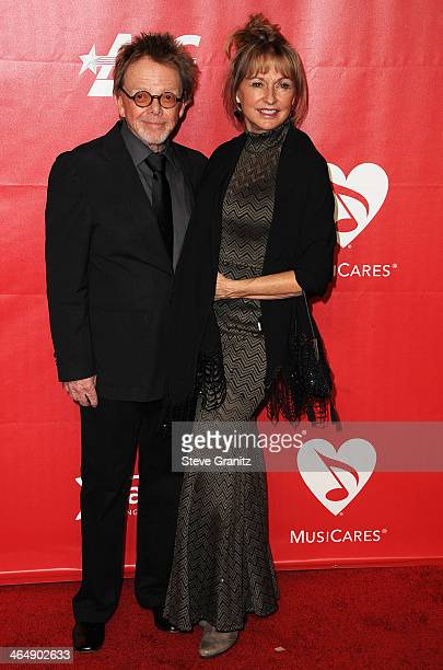 Musician Paul Williams and Mariana Williams attend 2014 MusiCares Person Of The Year Honoring Carole King at Los Angeles Convention Center on January...