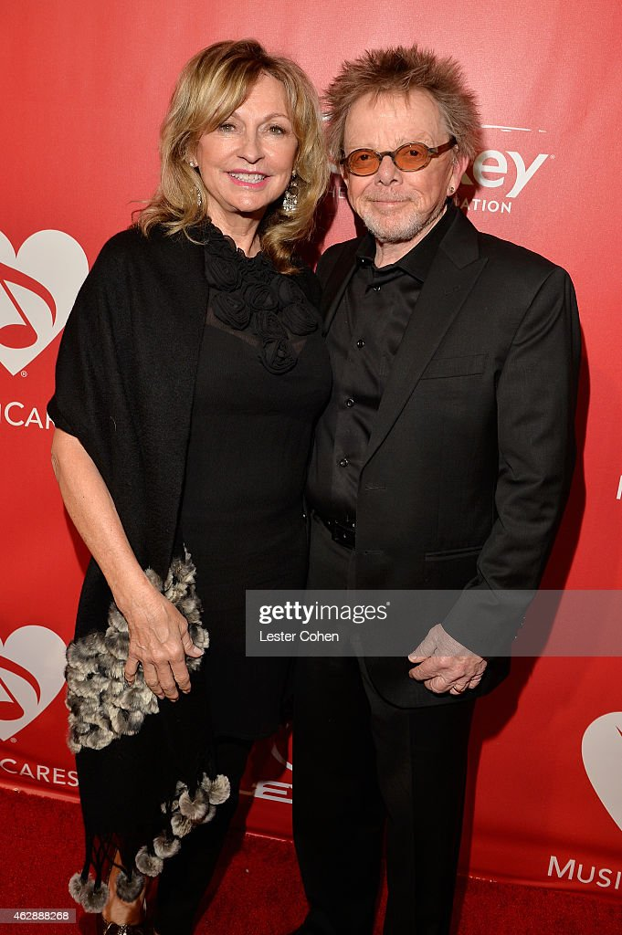 Musician Paul Williams (R) and Mariana Williams attend the 25th anniversary MusiCares 2015 Person Of The Year Gala honoring Bob Dylan at the Los Angeles Convention Center on February 6, 2015 in Los Angeles, California. The annual benefit raises critical funds for MusiCares' Emergency Financial Assistance and Addiction Recovery programs. For more information visit musicares.org.