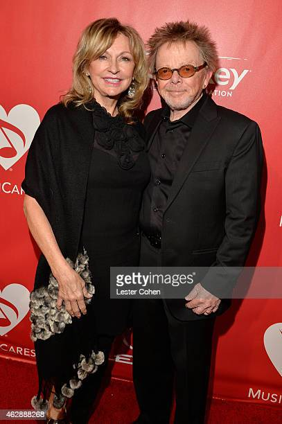 Musician Paul Williams and Mariana Williams attend the 25th anniversary MusiCares 2015 Person Of The Year Gala honoring Bob Dylan at the Los Angeles...