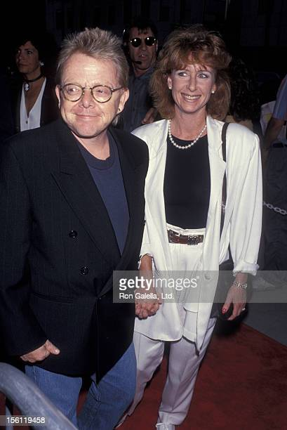 Musician Paul Williams and wife Hilda Wynn attending the screening of 'And The Band Played' on August 31 1993 at the Academy Theater in Beverly Hills...
