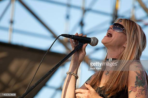 Musician Paula Nelson performs at The Backyard on April 21 2012 in Austin Texas