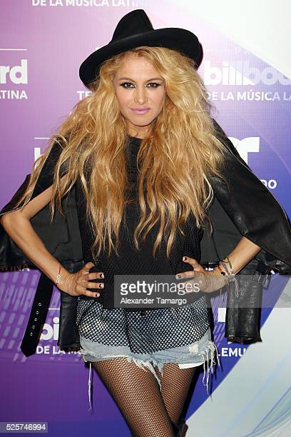 Musician Paulina Rubio is seen backstage at the Billboard Latin Music Awards at the Bank United Center on April 28 2016 in Coral Gables Florida