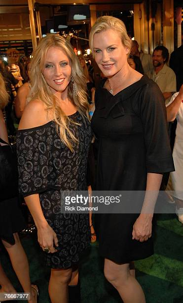 Musician Pauline Reese and Actress and cofounder of the Sustainable Biodiesel Alliance Daryl Hannah arrive on The Green Carprt forThe Launch of the...