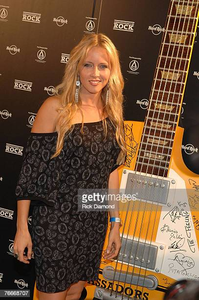 Musician Pauline Reese arrives on The Green Carprt forThe Launch of the Sustainable Biodiesel Alliance at the Hard Rock Cafe in New York City on...