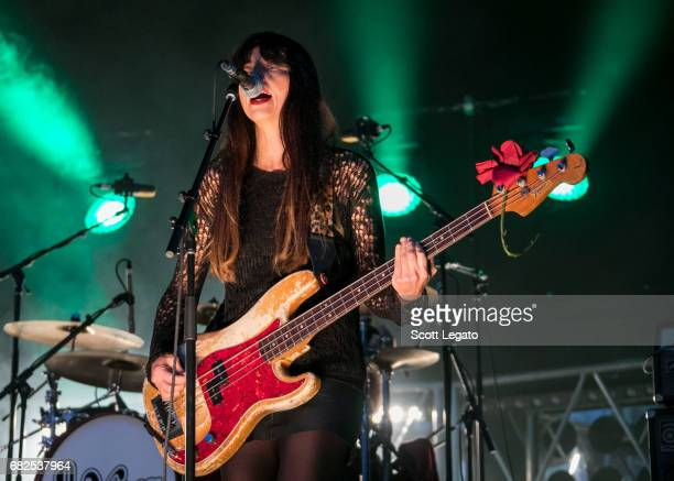 Musician Paz Lenchantin of Pixies performs during day 1 of Shaky Knees Festival at Centennial Olympic Park on May 12 2017 in Atlanta Georgia
