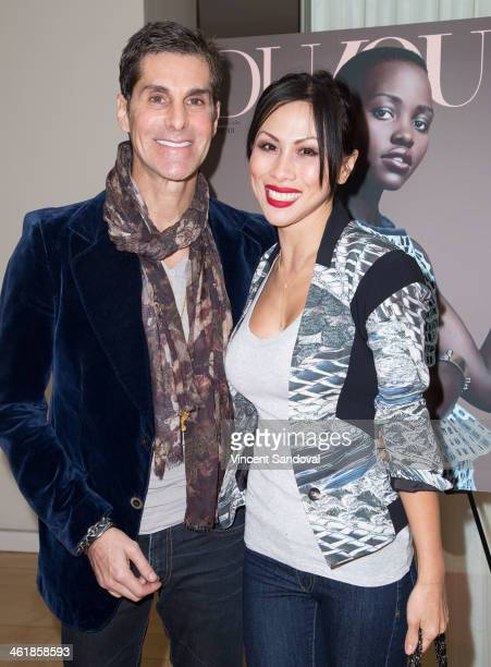 Musician Perry Farrell and wife Etty Farrell attend the DuJour Magazine celebrates great performances issue featuring 12 Years A Slave Golden Globe...