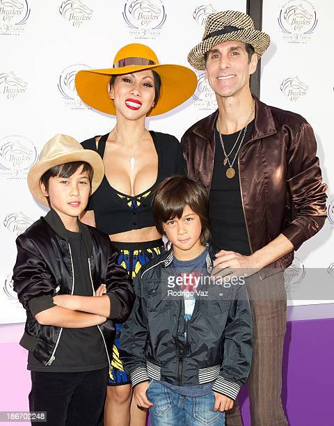 Musician Perry Farrell of Jane's Addiction wife Etty Lau Farrell and children Izzadore Bravo Farrell and Hezron Wolfgang Farrell arrive at the 30th...