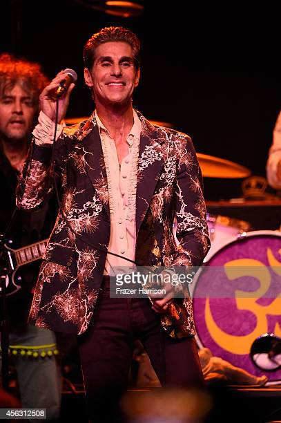 Musician Perry Farrell performs at theThe Best Fest Presents GEORGE FEST An Evening To Celebrate The Music Of George Harrison at The Fonda Theatre on...