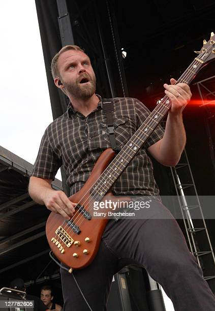 Musician Pete Charell of Trapt performs during the 2011 Rock On The Range festival at Crew Stadium on May 22 2011 in Columbus Ohio