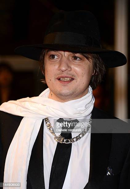 """Musician Pete Doherty attends the """"Confession Of A Child Of The Century"""" Premiere during the 65th Annual Cannes Film Festival at Palais des Festivals..."""