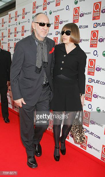 Musician Pete Townshend from The Who and guest arrive at the Q Awards 2006 held at the Grosvenor House Hotel on October 30 2006 in London England