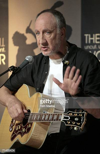 Musician Pete Townshend of the band The Who attends a showcase on July 13 2006 in Berlin Germany The Who announced the details of their 2006 world...