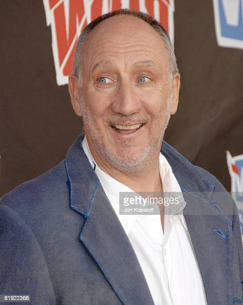 Musician Pete Townshend of The Who arrives at the 2008 VH1 Rock Honors honoring The Who at UCLA's Pauley Pavilion on July 12 2008 in Los Angeles...