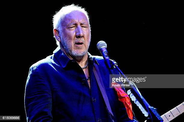 Musician Pete Townshend of The Who performs during Desert Trip at the Empire Polo Field on October 16, 2016 in Indio, California.