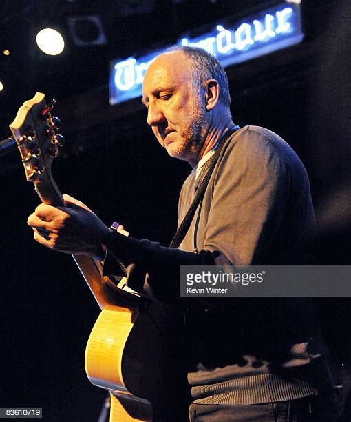 Musician Pete Townshend performs at Rachel Fuller's In The Attic presented by Best Buy at the Troubador on November 7 2008 in West Hollywood...