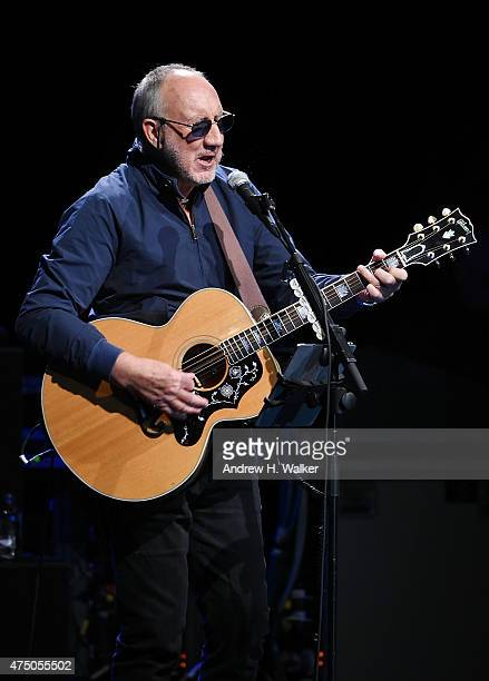 Musician Pete Townshend performs at the 11th Annual Musicares Map Fund Benefit concert at Best Buy Theater on May 28 2015 in New York City
