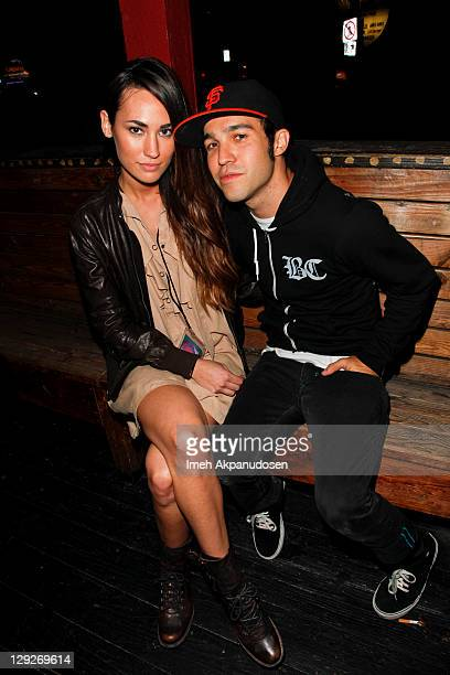 Musician Pete Wentz and model Meagan Camper attend the Project Ethos LA Fashion Week Event at House of Blues Sunset Strip on October 14 2011 in West...