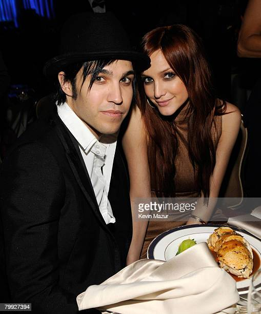 BEVERLY HILLS CA FEBRUARY 09 Musician Pete Wentz and Singer Ashlee Simpson during the 2008 Clive Davis PreGRAMMY party at the Beverly Hilton Hotel on...