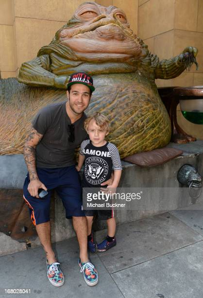 Musician Pete Wentz and son Bronx attend the screening of Star Wars Return of the Jedi during Entertainment Weekly CapeTown Film Festival Presented...