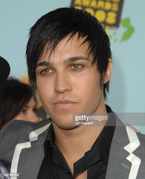Musician Pete Wentz arrives at Nickelodeon's 2008 Kids' Choice Awards at the Pauley Pavilion on March 29 2008 in Los Angeles California