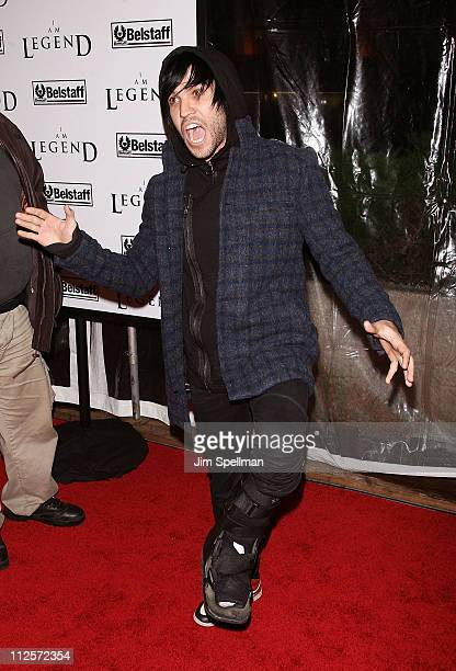 Musician Pete Wentz arrives at the I Am Legend New York Premiere at Theater at Madison Square Garden on December 11 2007 in New York City