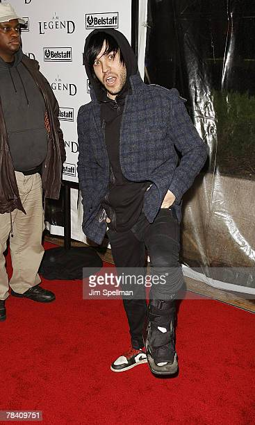 Musician Pete Wentz arrives at the I Am Legend New York Premiere at the Theater at Madison Square Garden on December 11 2007 in New York City
