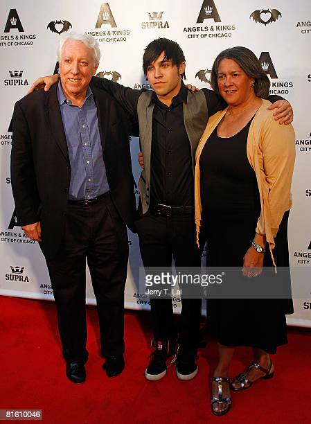Musician Pete Wentz arrives for a VIP preview party and his 29th birthday celebration with his parents Pete Wentz Sr and Dale Wentz at Angels Kings...
