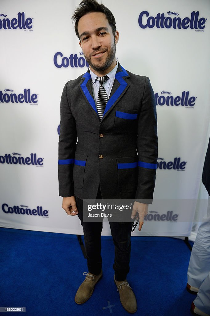 Musician Pete Wentz attends Cottonelle Celebrity 'Clean Room' at the 140th Kentucky Derby at Churchill Downs on May 3, 2014 in Louisville, Kentucky.