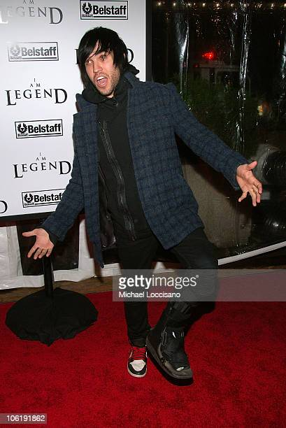 Musician Pete Wentz attends I am Legend premiere at the WaMu Theater at Madison Square Garden on December 11 2007 in New York City