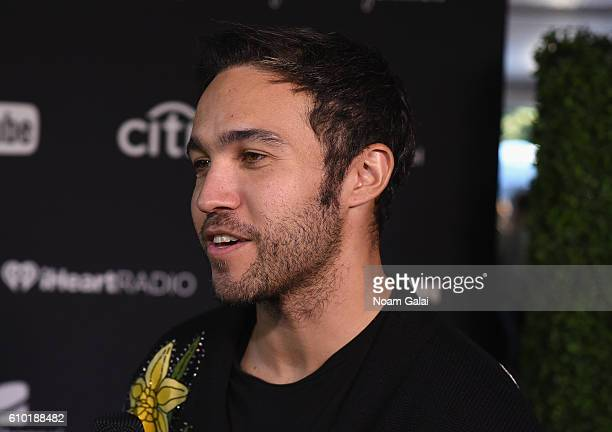 Musician Pete Wentz attends the 2016 Global Citizen Festival In Central Park To End Extreme Poverty By 2030 at Central Park on September 24 2016 in...