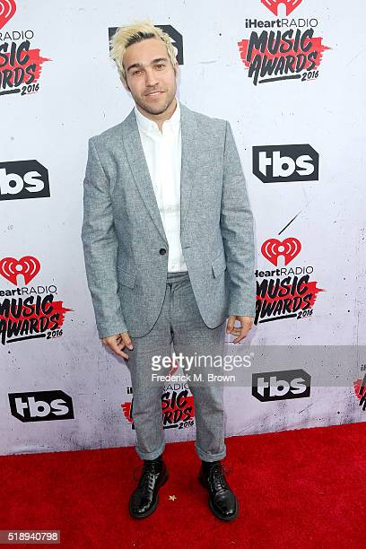 Musician Pete Wentz attends the iHeartRadio Music Awards at The Forum on April 3 2016 in Inglewood California