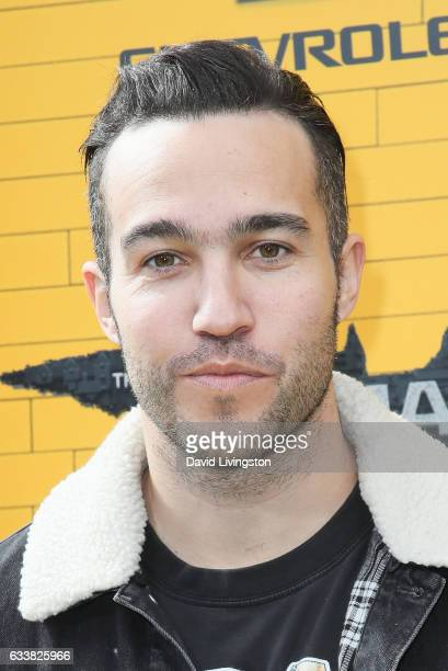 Musician Pete Wentz attends the Premiere of Warner Bros Pictures' 'The LEGO Batman Movie' at the Regency Village Theatre on February 4 2017 in...