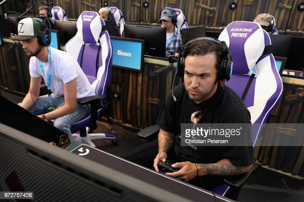 musician pete wentz of fall out boy competes in the epic games fortnite e3 - fortnite e3 tournament