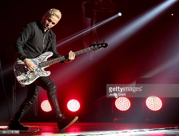 Musician Pete Wentz of Fall Out Boy performs onstage during 1067 KROQ Almost Acoustic Christmas 2015 at The Forum on December 13 2015 in Los Angeles...