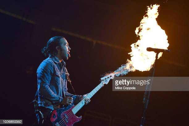 Musician Pete Wentz of the band Fall Out Boy performs at Prudential Center on September 4 2018 in Newark New Jersey