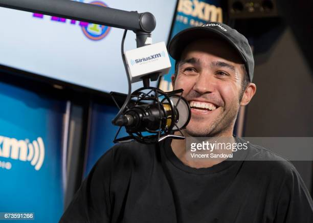 Musician Pete Wentz visits 'Hits 1 In Hollywood' on SiriusXM Hits 1 Channel at The SiriusXM Studios in Los Angeles on April 26 2017 in Los Angeles...