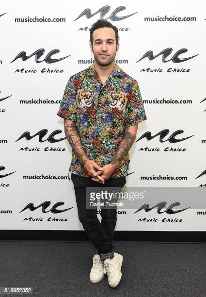 Musician Pete Wentz visits Music Choice on July 19 2017 in New York City