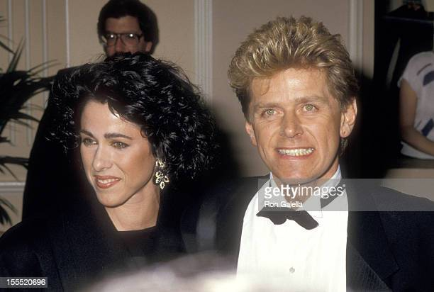 Musician Peter Cetera and wife Diane Nini attend the 44th Annual Golden Globe Awards on January 31 1987 at Beverly Hilton Hotel in Beverly Hills...