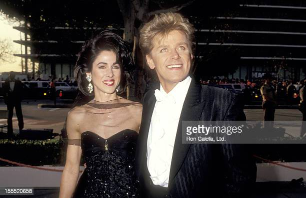 Musician Peter Cetera and wife Diane Nini attend the 59th Annual Academy Awards on March 30 1987 at Dorothy Chandler Pavilion in Los Angeles...
