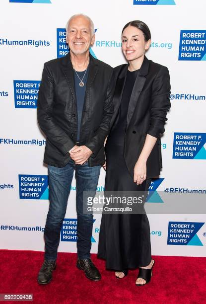 Musician Peter Frampton and daughter Jade Frampton attend Robert F Kennedy Human Rights Hosts Annual Ripple Of Hope Awards Dinner at New York Hilton...